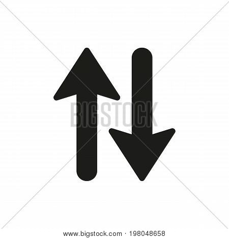 Icon of up down. Arrows, direction, symbol. Transportation concept. Can be used for topics like stock exchange, price, business
