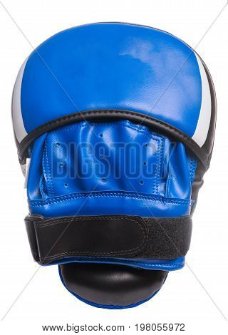 Boxing Paws On A White Background Blue