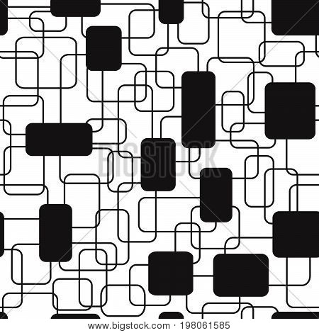 Seamless pattern of overlapping rectangles. Appropriate for textile, packing materials, website backgrounds.