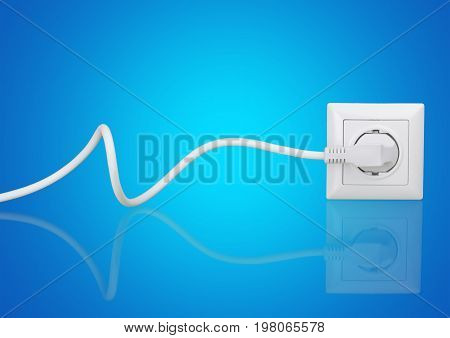 White electric electrical plug socket electric plug background