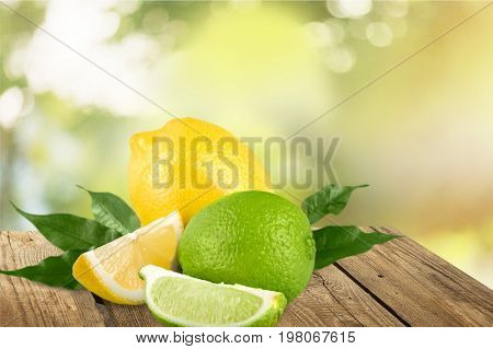 Fresh leaves citrus fruits healthy food low calorie natural food