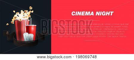 Vector illustration. Movie cinema premiere poster design