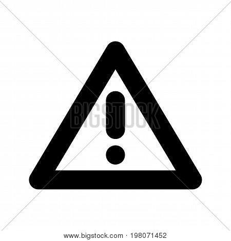 Warning attention sign with exclamation mark symbol. Black symbol of dangerous