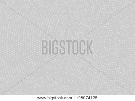 Light Grey Abstract Doted Background With Radial Halftone Effect