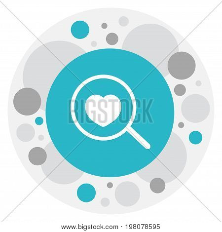 Vector Illustration Of Love Symbol On Search Icon