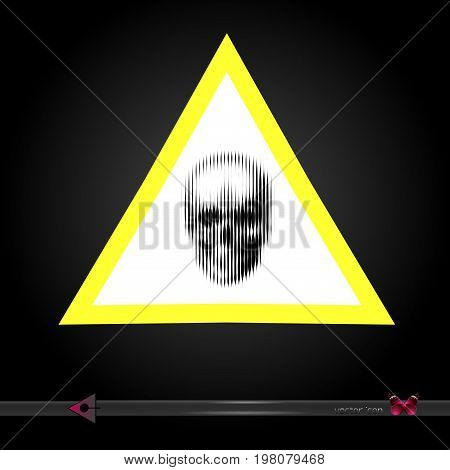 Vector. The Sign Of Danger. Yellow Triangle