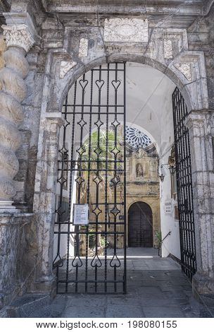 Cordoba, SPAIN - July 9, 2017: Church of San Pablo, situated in the street called