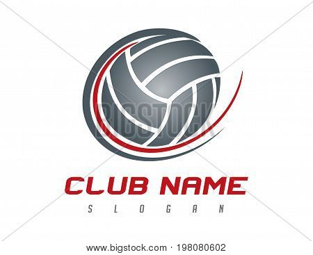 Volleyball modern logo on a white background