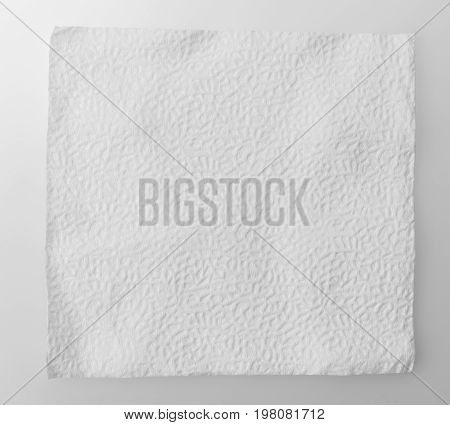 soft feeling when touch tissue paper on white background
