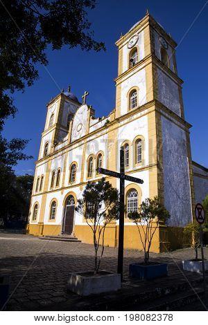 Nossa Senhora Da Graca Church In Sao Francisco Do Sul. Santa Catarina. July, 2017.