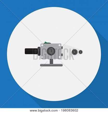 Vector Illustration Of Electric Symbol On Soldering Pipe Flat Icon