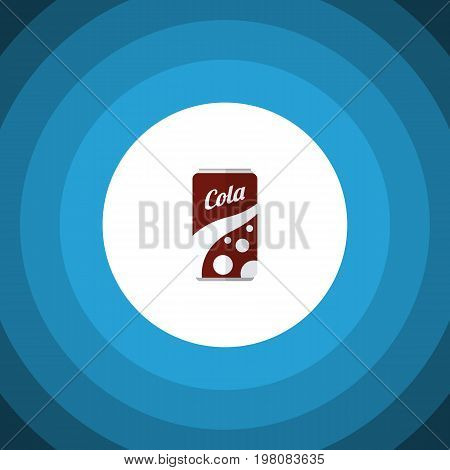 Fizzy Drink Vector Element Can Be Used For Soda, Fizzy, Drink Design Concept.  Isolated Soda Flat Icon.