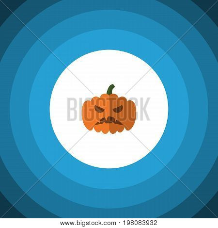 Pumpkin Vector Element Can Be Used For Pumpkin, Gourd, Halloween Design Concept.  Isolated Gourd Flat Icon.