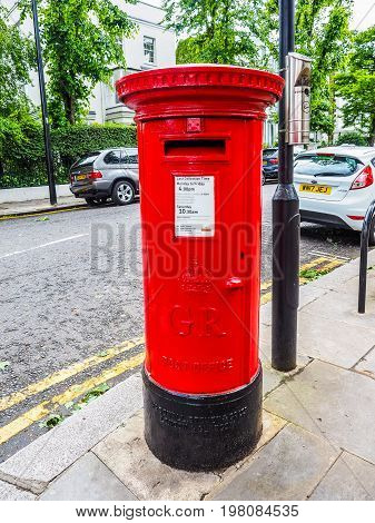 Red Mailbox In London (hdr)