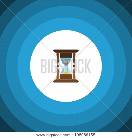 Minute Measuring Vector Element Can Be Used For Instrument, Timer, Sandglass Design Concept.  Isolated Clock Flat Icon.