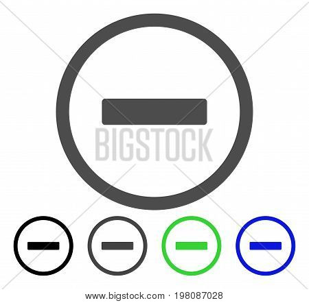 Remove flat vector illustration. Colored remove, gray, black, blue, green icon versions. Flat icon style for graphic design.