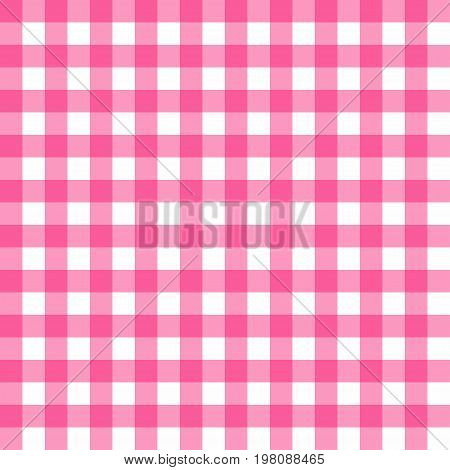 Picnic Table Cloth Seamless Pattern. Pink Picnic Plaid Texture