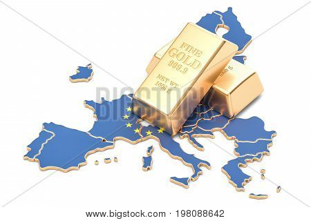 Foreign-exchange reserves of European Union concept 3D rendering