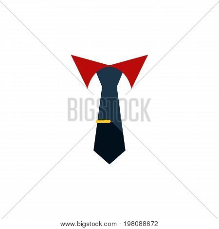 Tailoring Vector Element Can Be Used For Cravat, Tailoring, Collar Design Concept.  Isolated Collar Flat Icon.