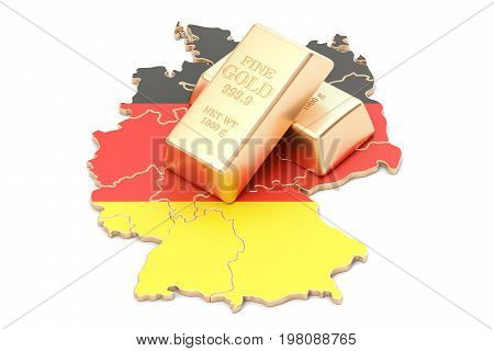 Foreign-exchange reserves of Germany concept 3D rendering isolated on white background