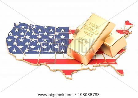 Foreign-exchange reserves of USA concept 3D rendering isolated on white background