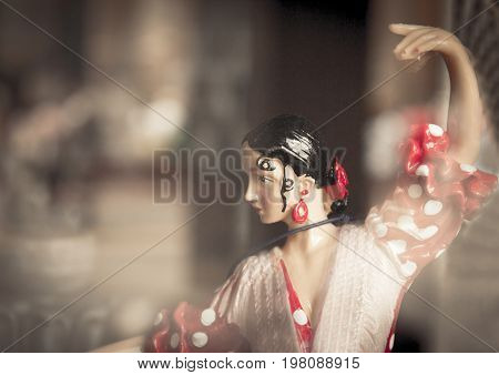 Standard mannequin of woman dancing sevillanas. Tipical spanish