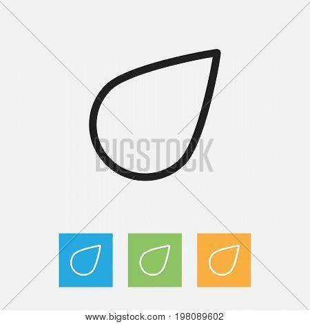 Vector Illustration Of Climate Symbol On Drop Outline