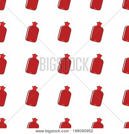Red warmer seamless pattern in cartoon style isolated on white background vector illustration for web