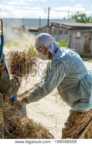 Man With Straw