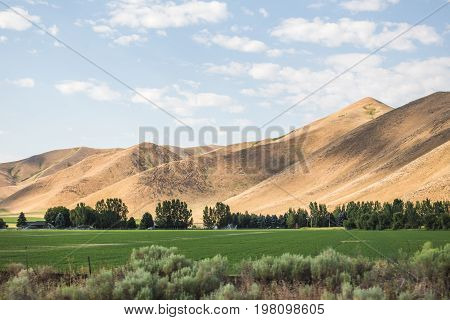 Moutains In Rural Farm Land