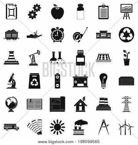 Finance company icons set. Simple style of 36 finance company vector icons for web isolated on white background