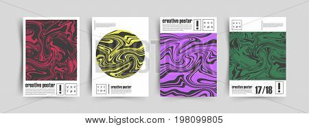 Creative fluid colors backgrounds. Artistic covers design. Trendy design. Eps10 vector