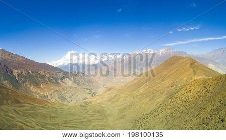 Dhaulagiri Mountain View Himalayas Nepal