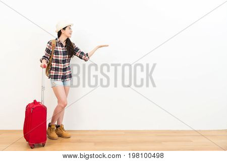 Beautiful Young Student Girl Looking At Empty Area