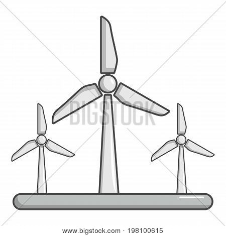 Eolic turbine icon. Cartoon illustration of eolic turbine vector icon for web design