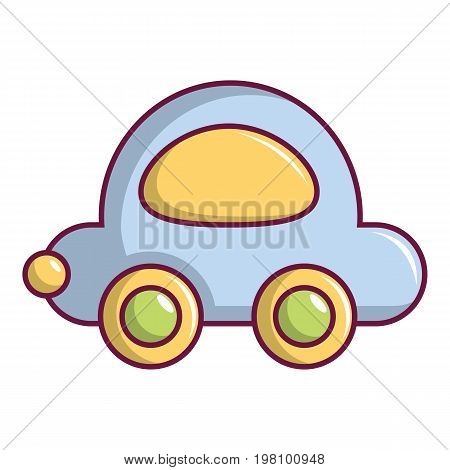 Toy car icon. Cartoon illustration of toy car vector icon for web design