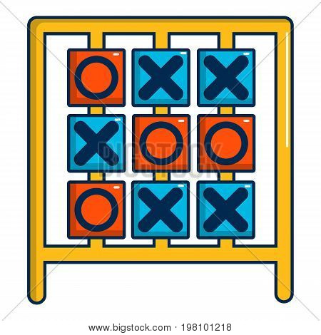Tic tac toe game icon. Cartoon illustration of tic tac toe game vector icon for web design