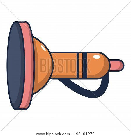 Cute toy trumpet icon. Cartoon illustration of cute toy trumpet vector icon for web design