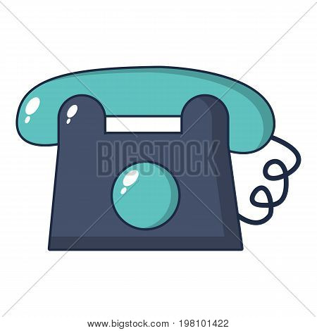 Toy telephone icon. Cartoon illustration of toy telephone vector icon for web design