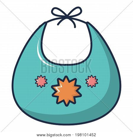 Kid bib icon. Cartoon illustration of kid bib vector icon for web design
