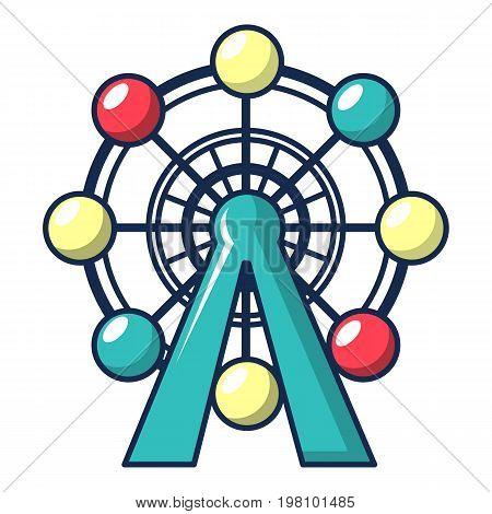 Ferris wheel icon. Cartoon illustration of ferris wheel vector icon for web design