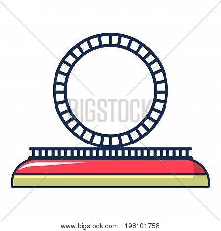 Attraction wheel icon. Cartoon illustration of attraction wheel vector icon for web design