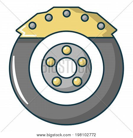 Car disk brake icon. Cartoon illustration of car disk brake vector icon for web design