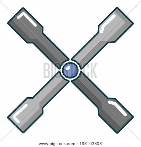 Wheel brace icon. Cartoon illustration of wheel brace vector icon for web design