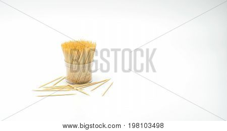 Toothpick on the white Toothpick spill Toothpick slant Toothpick splatter