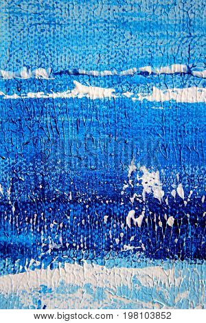Abstract Blue and White Painted Background