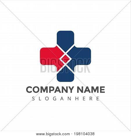 logo, medical logo, clinic logo, modern logo, elegant logo, hospital logo,blue medical logo, medical center logo,