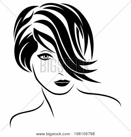 Attractive Glamour Young Girl With Stylish Hair