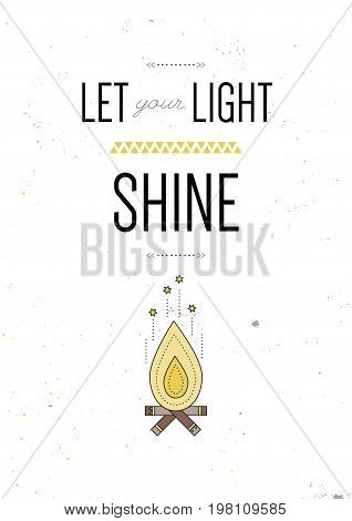 Let Your Light Shine Vector Photo Free Trial Bigstock