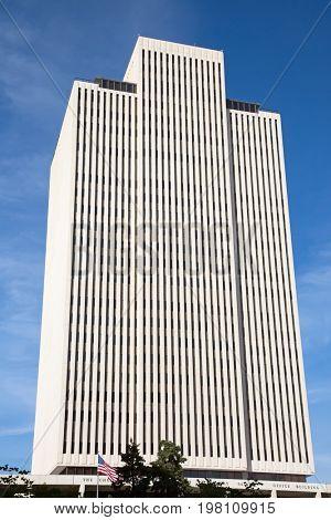 Salt Lake City, Utah, USA - October 8, 2016. Facade of the Office building of the Church of Jesus Christ of Latter-day Saints